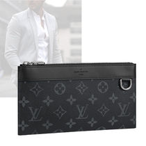 Louis Vuitton Monogram Bag in Bag Leather Clutches