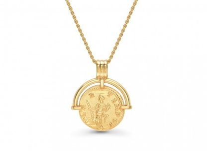 Coin Brass 18K Gold Elegant Style Necklaces & Pendants