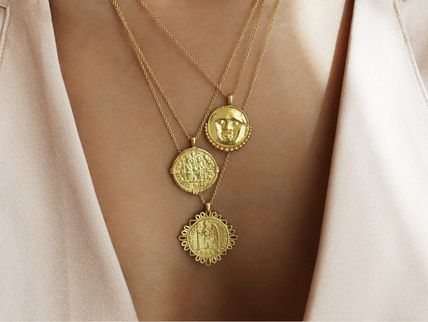Coin Silver Elegant Style Necklaces & Pendants