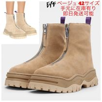 Eytys Unisex Suede Street Style Plain Boots Boots