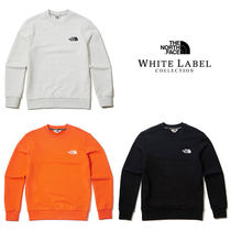 THE NORTH FACE WHITE LABEL Crew Neck Pullovers Unisex Street Style Long Sleeves Plain