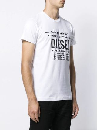 DIESEL More T-Shirts Unisex Street Style Cotton T-Shirts 4