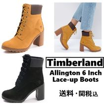 Timberland Plain Toe Lace-up Casual Style Street Style Plain Leather