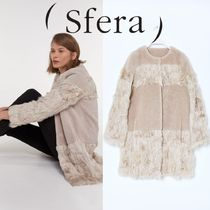 Sfera Fur Plain Medium Party Style Coats