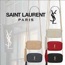 Saint Laurent LOU Casual Style Calfskin Party Style Elegant Style