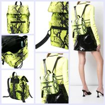 Off-White Casual Style Street Style Leather Python Backpacks