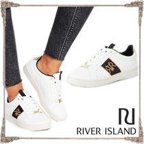 River Island Casual Style Faux Fur Blended Fabrics Low-Top Sneakers