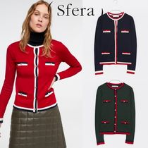 Sfera Long Sleeves Medium Elegant Style Cardigans