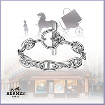 HERMES Chaine dAncre Casual Style Silver Bracelets