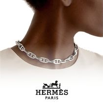 HERMES Chaine dAncre Casual Style Silver Necklaces & Pendants