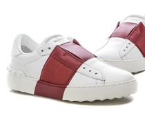 VALENTINO Rubber Sole Casual Style Unisex Leather Handmade
