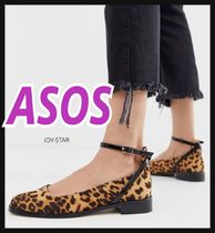 ASOS Leopard Patterns Platform Casual Style Other Animal Patterns