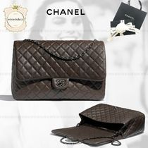 CHANEL Chain Leather Elegant Style Shoulder Bags