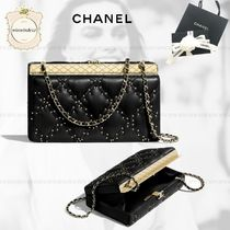 CHANEL Lambskin Chain Party Bags