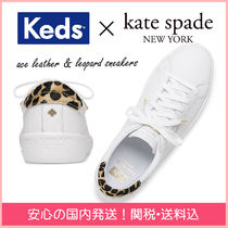 kate spade new york Leopard Patterns Round Toe Rubber Sole Casual Style Plain