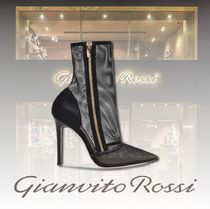 Gianvito Rossi Blended Fabrics Leather Pin Heels Elegant Style
