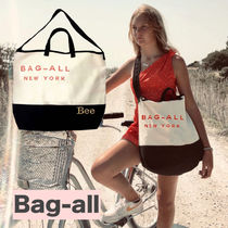 Bag all Casual Style Canvas A4 2WAY Bi-color Totes