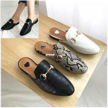 Plain Toe Casual Style Faux Fur Other Animal Patterns Python