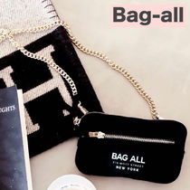 Bag all Casual Style 2WAY Chain Plain Shoulder Bags