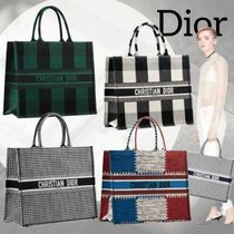 Christian Dior Casual Style Canvas Totes