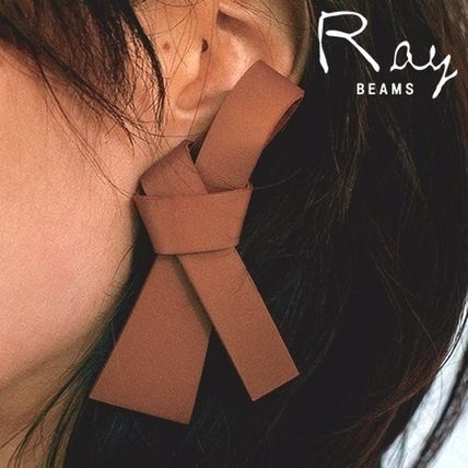 Leather Elegant Style Earrings