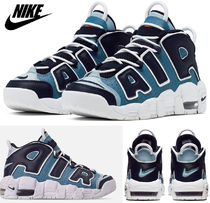 Nike AIR MORE UPTEMPO Unisex Blended Fabrics Petit Street Style Kids Girl Sneakers