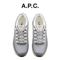 A.P.C. Round Toe Casual Style Unisex Street Style Low-Top Sneakers