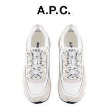 A.P.C. Round Toe Casual Style Unisex Blended Fabrics Street Style