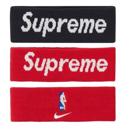 Supreme Unisex Street Style Collaboration Plain Logo Accessories