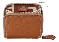 HERMES Silk In Plain Leather Small Wallet Coin Cases