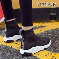 Platform Round Toe Casual Style Street Style Plain