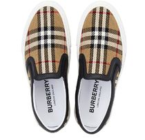 Burberry Rubber Sole Casual Style Unisex Leather Handmade