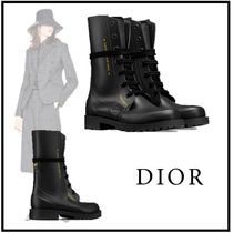 Christian Dior 2019-20AW DIORCAMP LOW BOOT IN RUBBER black 34-41 boots