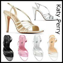Katy Perry Open Toe Casual Style Plain Pin Heels Heeled Sandals