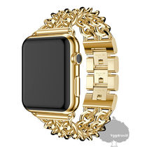 Unisex Studded Chain Party Style Stainless Watches