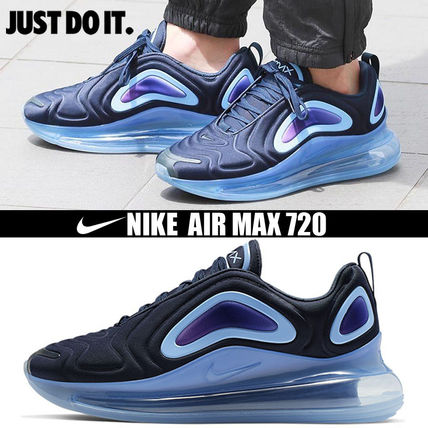 Nike AIR MAX 720 2019 20AW Blended Fabrics Street Style Plain PVC Clothing Sneakers