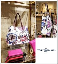 Tory Burch Flower Patterns Casual Style A4 Totes
