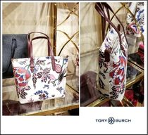 Tory Burch Flower Patterns Casual Style Totes