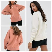 Nike Crew Neck Unisex Street Style Long Sleeves Plain Cotton