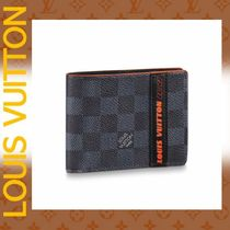 Louis Vuitton DAMIER Other Check Patterns Calfskin Folding Wallets