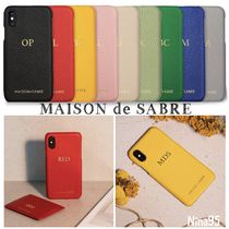 MAISON de SABRE Plain Leather Smart Phone Cases