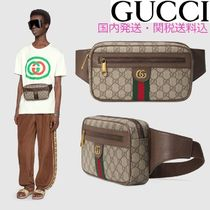 GUCCI Ophidia Unisex Canvas Street Style Hip Packs