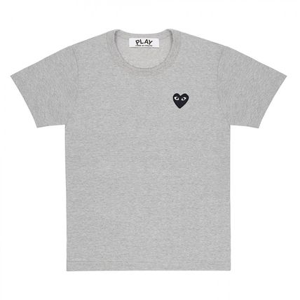 COMME des GARCONS Crew Neck Crew Neck Heart Unisex Street Style Cotton Short Sleeves 7