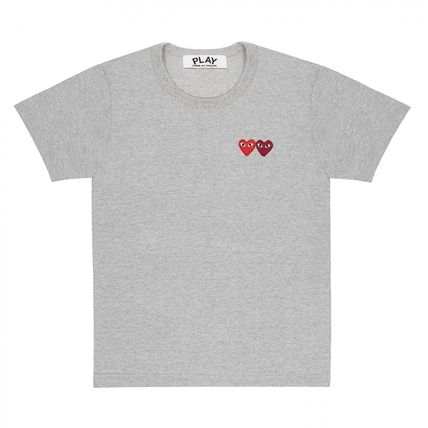 COMME des GARCONS Crew Neck Crew Neck Heart Unisex Street Style Cotton Short Sleeves 13