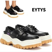 Eytys Square Toe Rubber Sole Casual Style Unisex Street Style
