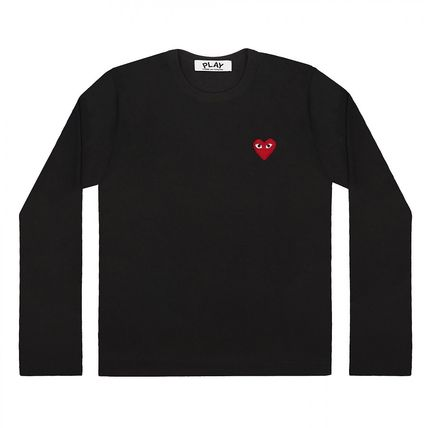 COMME des GARCONS Long Sleeve Crew Neck Heart Unisex Street Style Long Sleeves Cotton 3