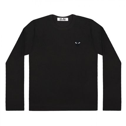 COMME des GARCONS Long Sleeve Crew Neck Heart Unisex Street Style Long Sleeves Cotton 5