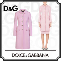 Dolce & Gabbana Wool Plain Party Style Coats