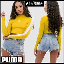 PUMA Short Long Sleeves Cotton Long Sleeve T-shirt Logo