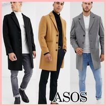 ASOS Wool Blended Fabrics Long Blazers Jackets